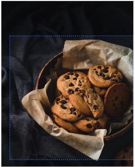 Crop photo cookies