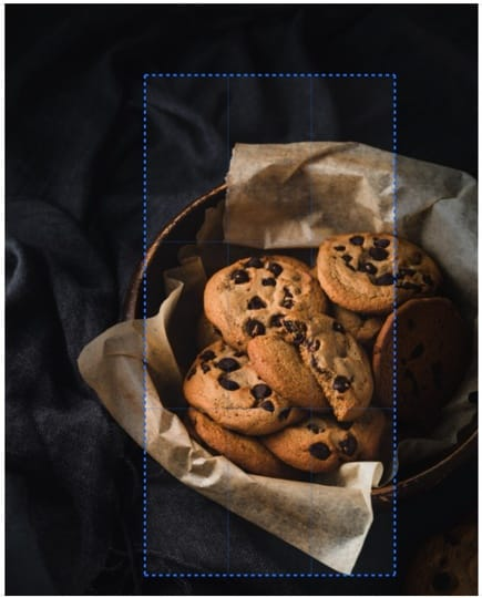 Crop photos cookies sample