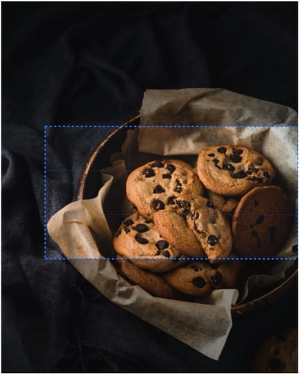 Cropping photos cookies